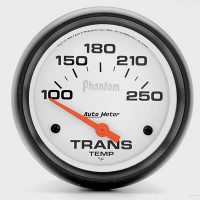 Auto Meter Phantom - Transmission Temperature Gauge: 67mm FAHRENHEIT