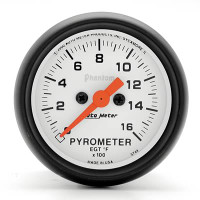 Auto Meter Phantom - EGT/Pyrometer - FAHRENHEIT (0-1,600 Degrees)