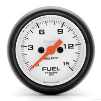 Auto Meter Phantom - Fuel Pressure Gauge: 0-15 PSI