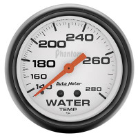 Auto Meter Phantom - Water Temperature Gauge 67 mm - FAHRENHEIT (140-280 Degrees)