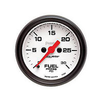 Auto Meter Phantom - Fuel Pressure Gauge: 0-30 PSI