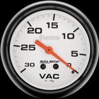 Auto Meter Phantom - Vacuum Gauge 67mm