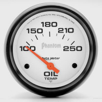 Auto Meter Phantom - Oil Temperature Gauge 67mm: 100-250 Degrees FAHRENHEIT