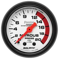Auto Meter Phantom - Nitrous Pressure Gauge: 0-2,000 PSI