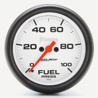 Auto Meter Phantom - Fuel Pressure Gauge 67mm: 0-100 PSI - Electrical