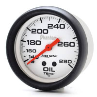 Auto Meter Phantom - Oil Temperature Gauge 67mm: 140-280 Degrees FAHRENHEIT