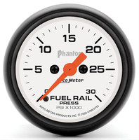 Auto Meter Phantom - Fuel Rail Pressure Gauge: 0-30,000 PSI