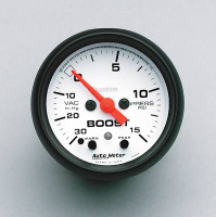 Auto Meter Phantom - Boost Gauge 15 PSI