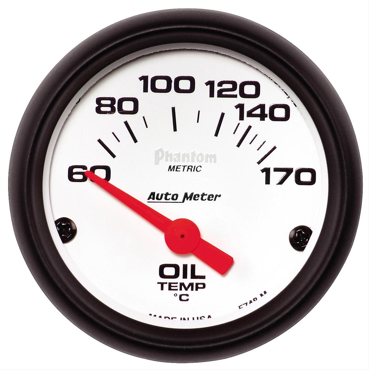 Auto Meter Phantom - Oil Temperature Gauge - CELSIUS (60 ...