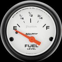 Auto Meter Phantom - Fuel Level Gauge: 0 ohms/ 30 ohms