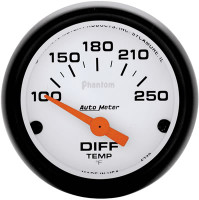 Auto Meter Phantom - Differential Temperature Gauge: 100-250 Degrees FAHRENHEIT
