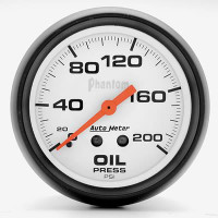 Auto Meter Phantom - Oil Pressure Gauge 67mm: 0-200 PSI Mechanical