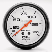 Auto Meter Phantom - Oil Pressure Gauge 67mm: 0-150 PSI Mechanical
