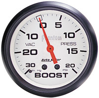 Auto Meter Phantom - Boost Gauge 67mm: 30 PSI