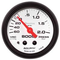 Auto Meter Phantom - Boost Gauge: 60cm Hg/ 2.0 Bars