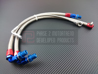 P2M - STEEL BRAIDED TURBO LINE KIT for NISSAN 240sx S13 SR20DET