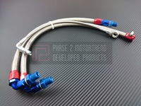 P2M - STEEL BRAIDED TURBO LINE KIT for NISSAN 240sx S13 SR20DET