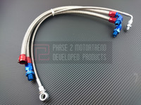 P2M - STEEL BRAIDED TURBO LINE KIT for NISSAN 240sx S13 SR20DET - TOP MOUNT