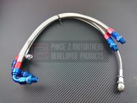 P2M -Steel Braided Turbo Line Kit for NISSAN S14/15 SR20DET - TOP MOUNT
