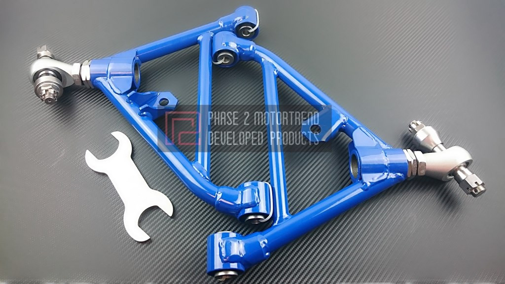 Adjustable Front Rear Lower Control Arms for Nissan Silvia 240SX S13 180SX BLUE