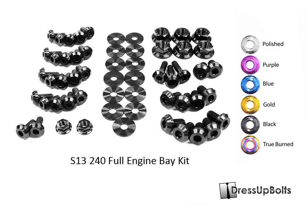 DRESS UP BOLTS TITANIUM ENGINE BAY KIT FOR NISSAN 240SX