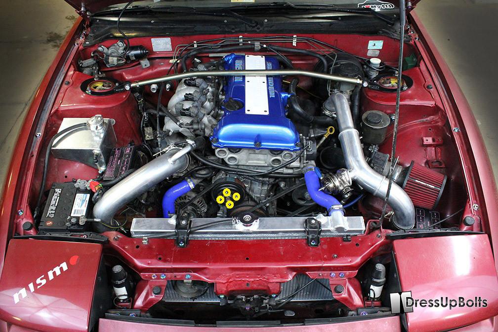 POLISHED ALUMINUM VALVE COVER WASHER KIT W//BOLTS FOR SR20//SR20DET ENGINES A