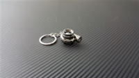 Spinning Turbocharger w/LED Black Chrome Keychain