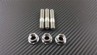 P2M STAINLESS STEEL EXHAUST DOUBLE HEAD STUD NUT SET M10X1.25 : 3PCS SET