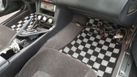P2M NISSAN S14 1995-98 240SX RACE FLOOR CARPET MATS : LIGHT WHITE