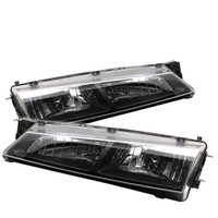 Spyder Nissan 240SX 97-98 Crystal Headlights - Black
