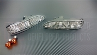 P2M NISSAN 180SX CHUKI CRYSTAL CLEAR FRONT TURN SIGNALS [TEAR DROP]
