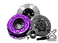 XCLUTCH Clutch Kit Inc Chromoly Flywheel: Stage 1 Single Sprung Organic Clutch Disc - Nissan 240sx KA24DE