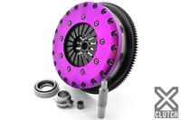 XCLUTCH Twin Plate Clutch Kit Twin Disc Organic Incl Flywheel - Nissan 240sx KA24DE