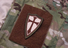 Crusader Cross patch OD/Brown/Tan