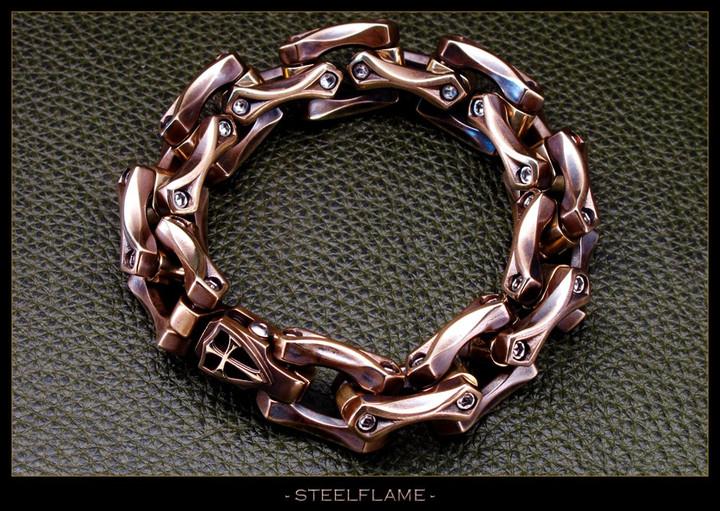 Axe Link Bracelet in Royal Bronze