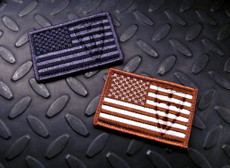 Velcro Backing - Available in Black/Grey or Brown/Tan Made in the USA.