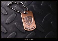 Crusader Lion Copper Tag, Personalized