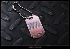 Old Glory Copper Tag, Personalized