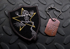 Bone Frog Memorial Patch and Tag Set