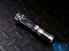 Flashlight Clip Silver Crusader Lion