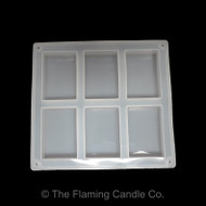 Silicone 6 Bar Rectangle Soap Mold