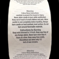 Candle Warning Labels - Large