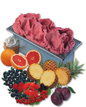 Sorbet Fruit Base BF 50 : best for high volume production. Creamy texture mix.