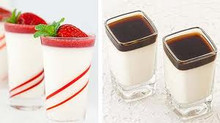 Pannacotta : Milky pudding , great with fresh fruit or decorated with caramel topping