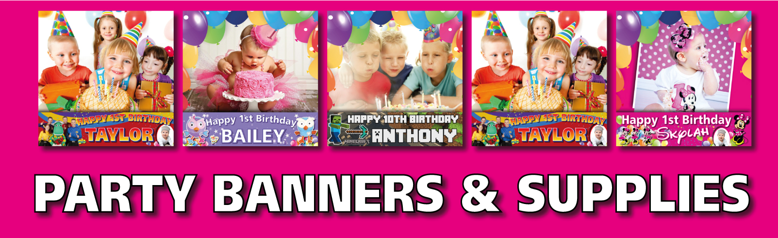 Personalised Party banners Decorations
