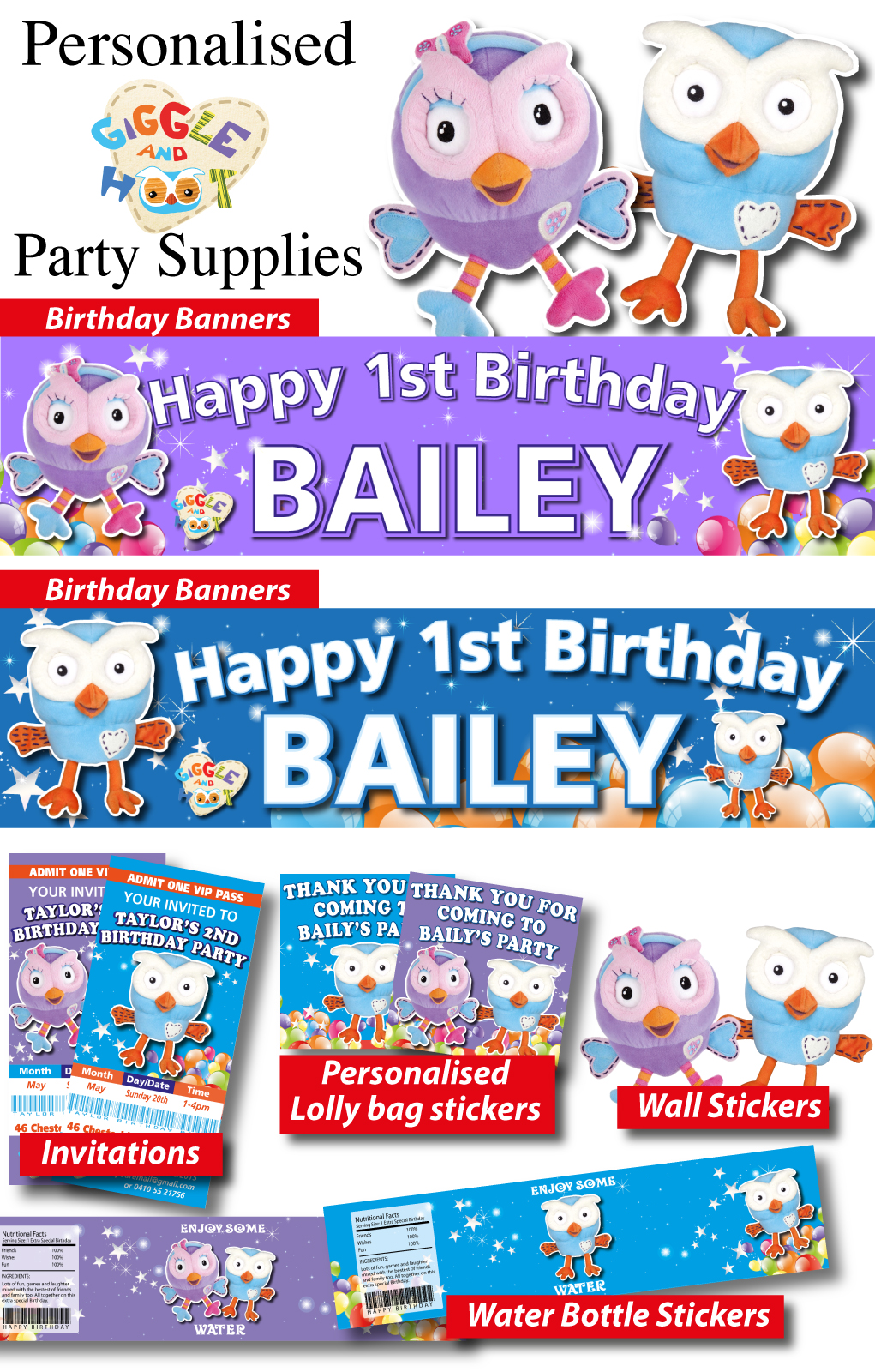 Personalised Girls Birthday Party Decorations Suppliers wholesale