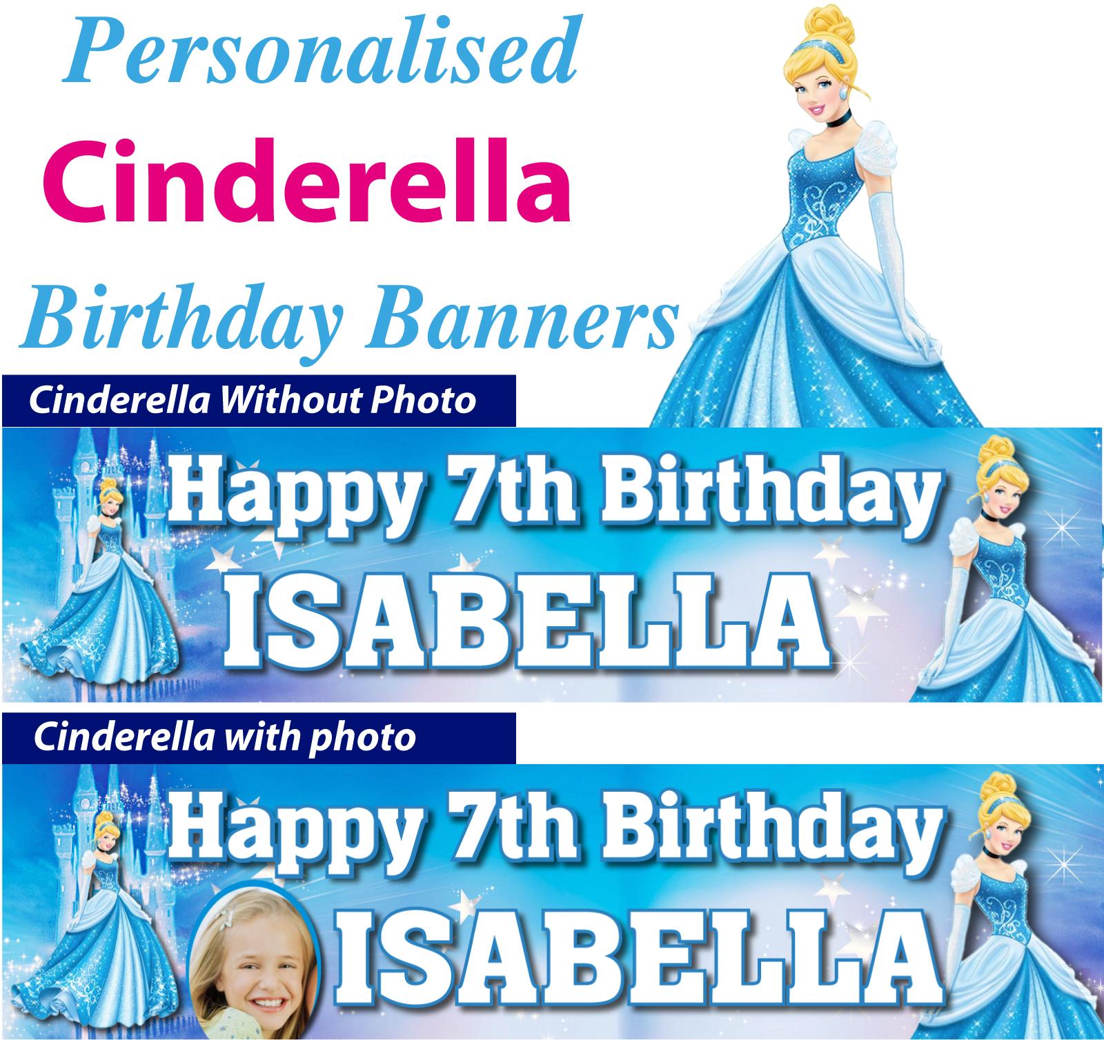 Personalised Cinderella Birthday Party Banner Decoration