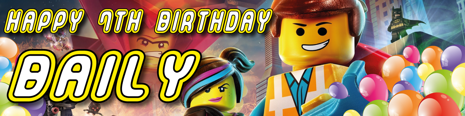 Personalised Lego Movie Birthday Party Banner Decoration