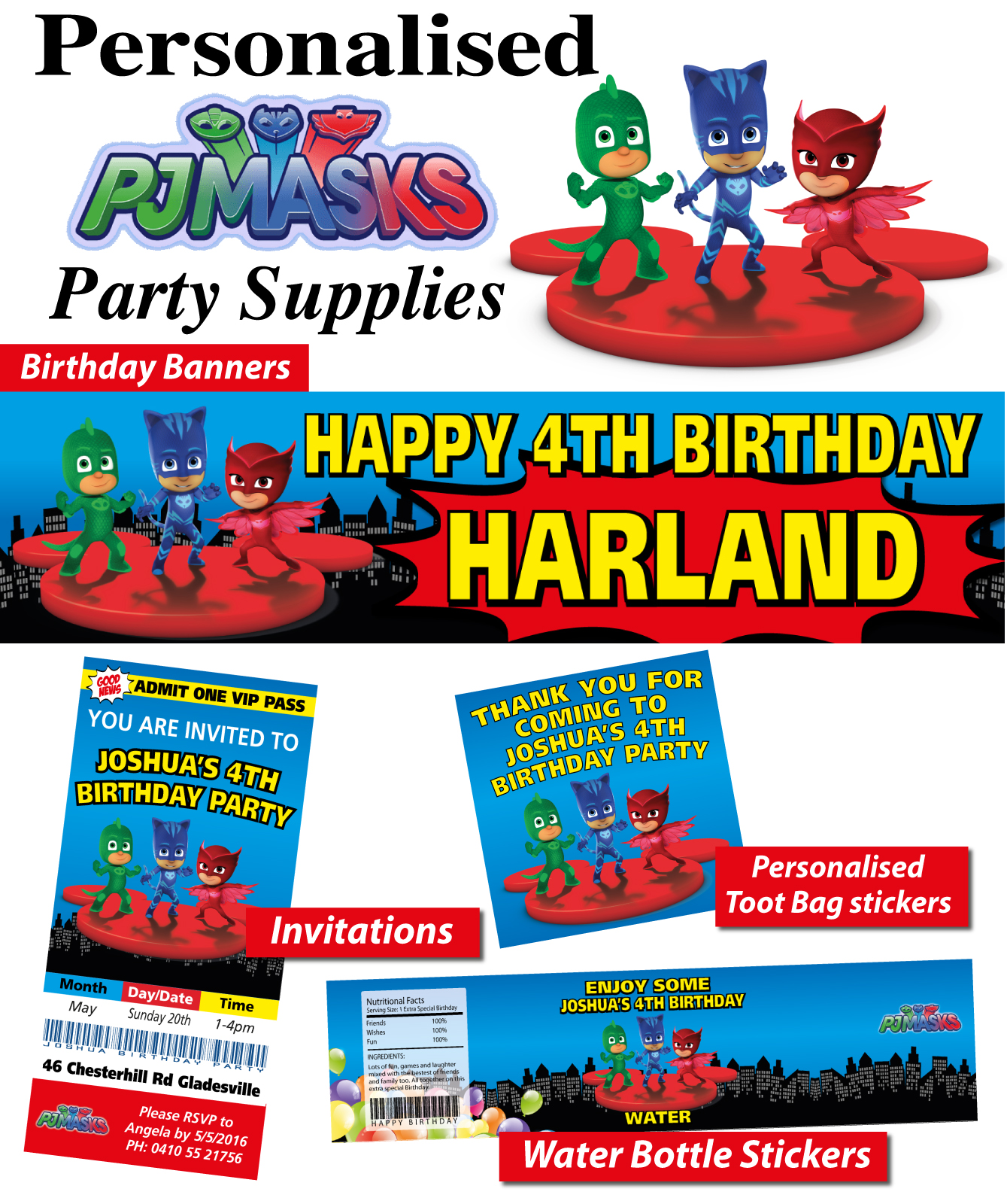 Pj Mask Party Ebay