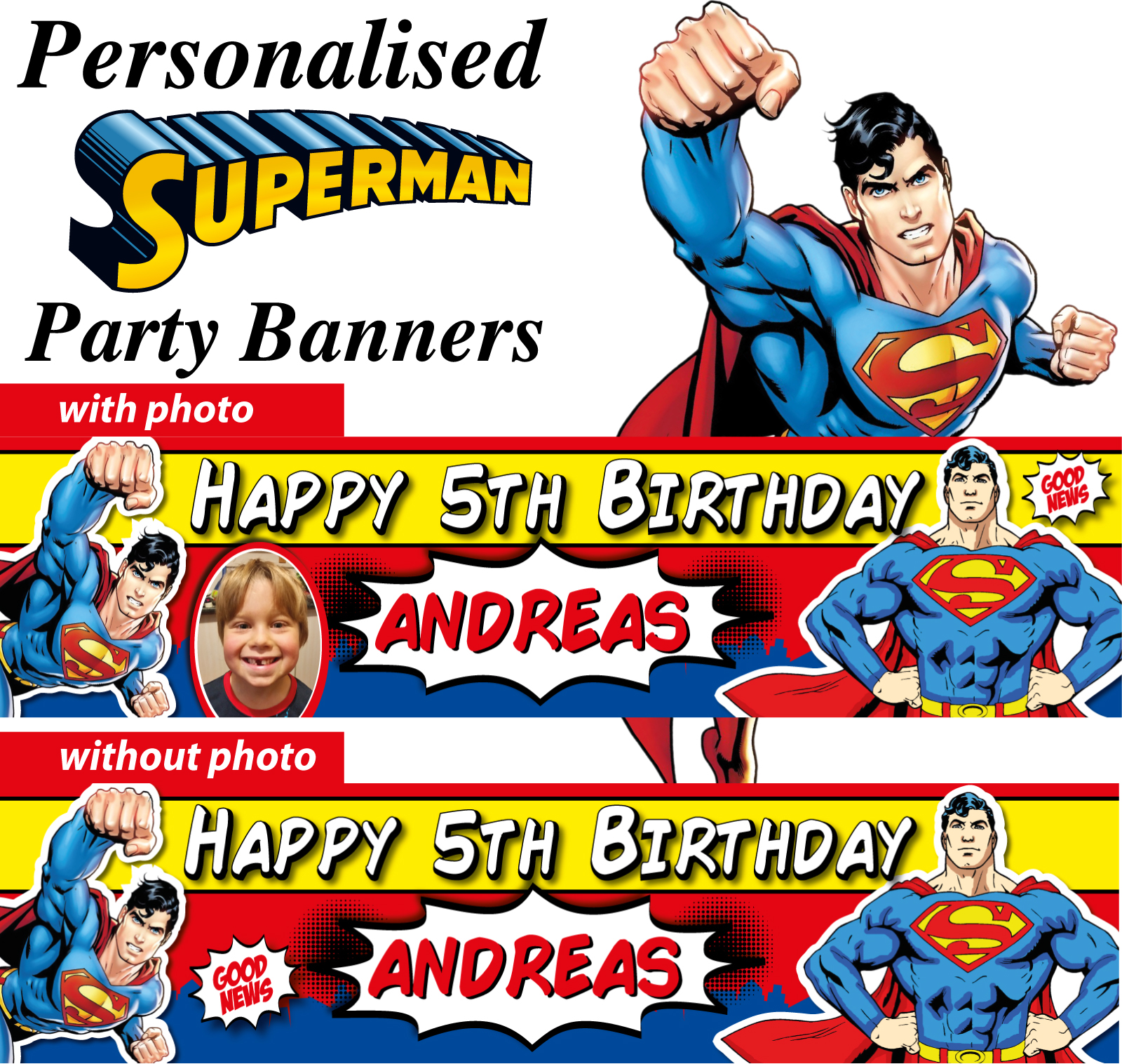 Superman Birthday Party Banners Decorations
